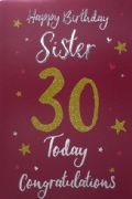 Sister 30th Birthday Card